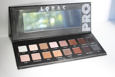 Lorac Pro Palette eyeshadow colors