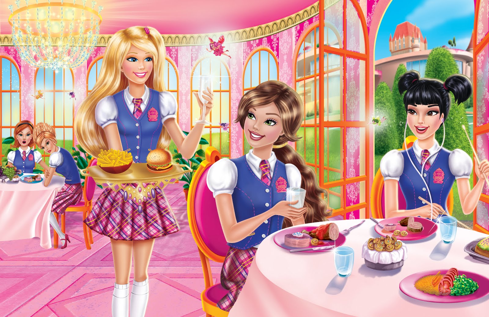 Barbie Princess Charm School Wallpaper