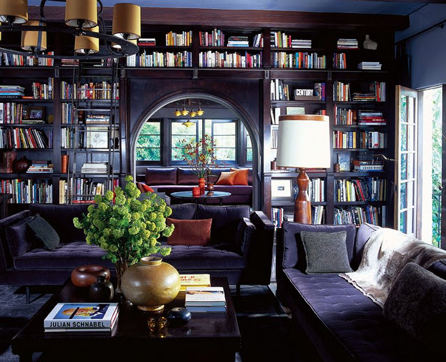 custom home library design