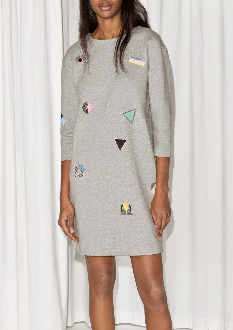 stories grey pattern dress