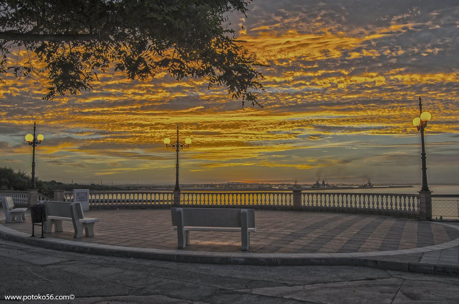 Mirador de los Galeones en el paseo del Chorrillo en Rota