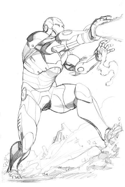 how to draw iron man full body