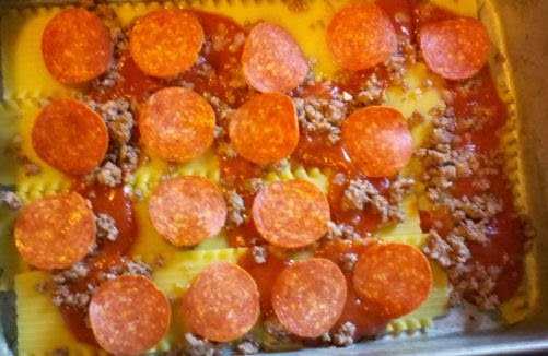 Countrified hicks pizza lasagna recipe for Cook something different for dinner