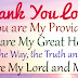THANK YOU LORD FOR YOU ARE MY HEALER AND MY GREAT PROVIDER