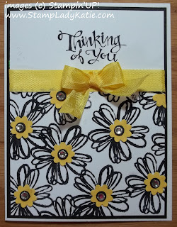 Card made with Stampin'UP!'s Flower Shop Stamp Set and Sassy Salutations stamp set.