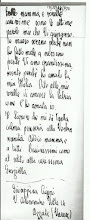 Lettera   dell' allievo Ufficiale Benito Cugini
