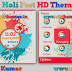 Holi Fest Live HD theme For Nokia C3-00, X2-01, Asha 200, 201, 205, 210, 302 & 320×240 Devices