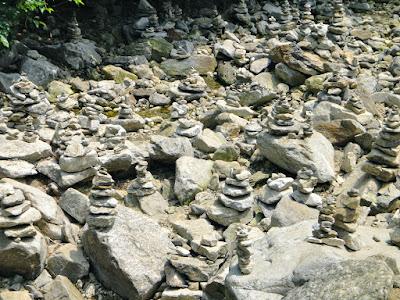 Rock stacking in Korea