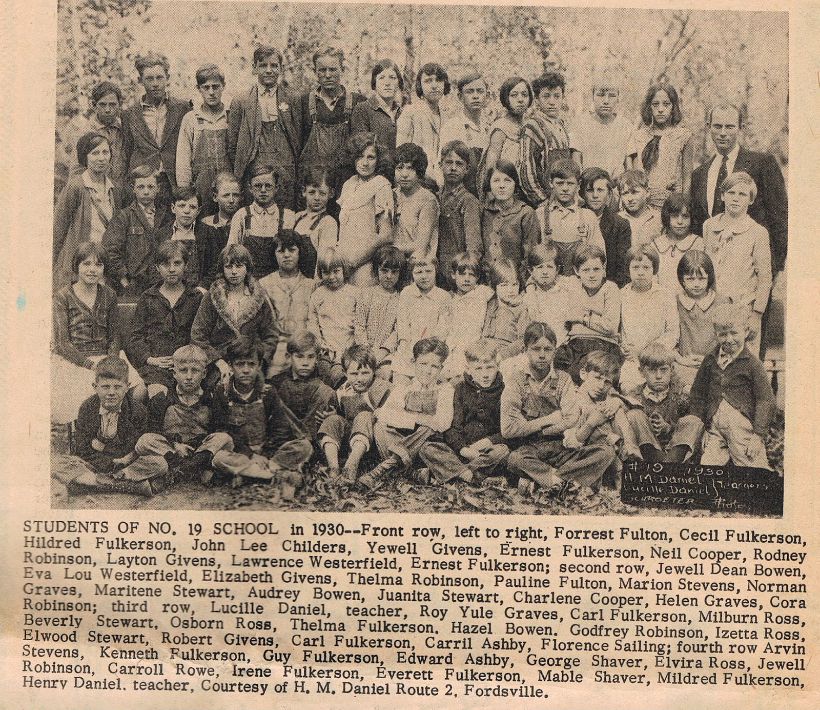 ohio county  kentucky history  class photo