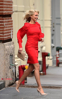 Cameron Diaz Pictures in Red Short Dress on the set of \'The Other Woman\'  0001