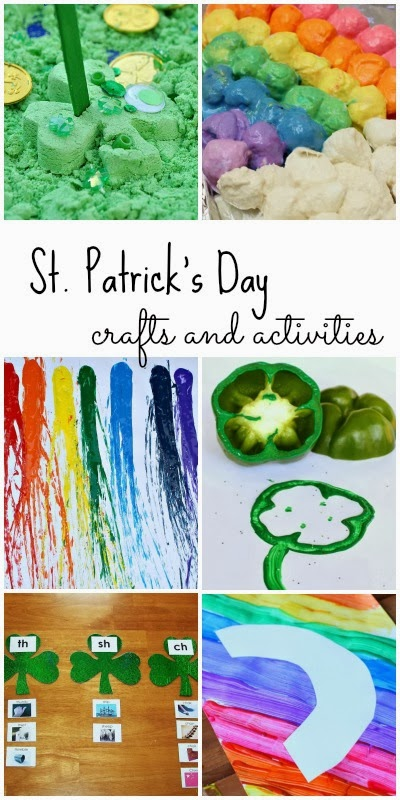 25+ awesome crafts and activities for kids with a St. Patrick's Day theme.