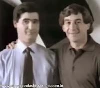 Ayrton Senna como garoto propaganda do Banco Nacional em 1991.