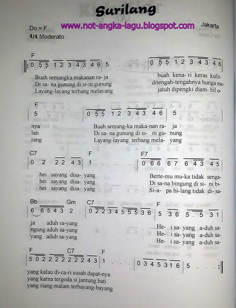 Not Angka Lagu Surilang