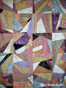 Hand Embroidered Crazy Quilt...
