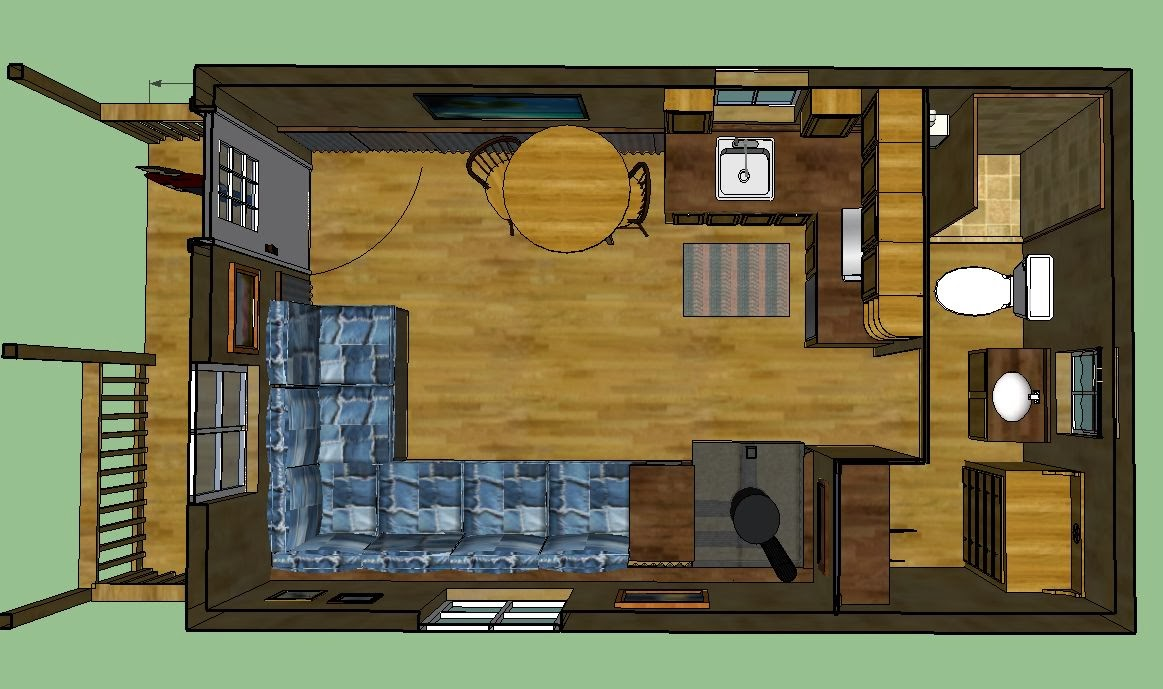 Sweatsville 12 X 24 Lofted Barn Cabin In Sketchup Another Rocket Stove Diagram Build Pinterest A Built Properly Will Exhaust Little More Than Co2 And Water Vapor