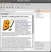 BloGTK cliente de blogging (para escribir blogs) gratuito