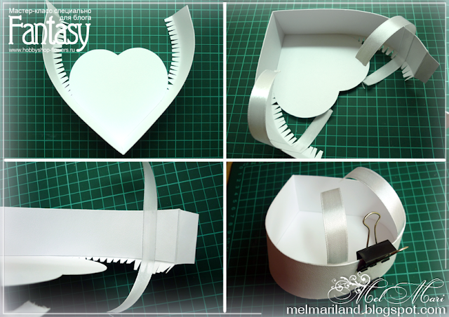Как сделать коробку в форме сердца из картона своими руками