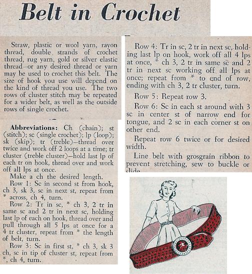 Vintage Knit Crochet Shop Talk Easy Crochet Belt Free Pattern