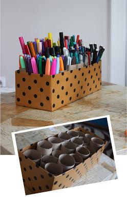 Reciclatex Cómo hacer un lapicero organizado con una caja de zapatos