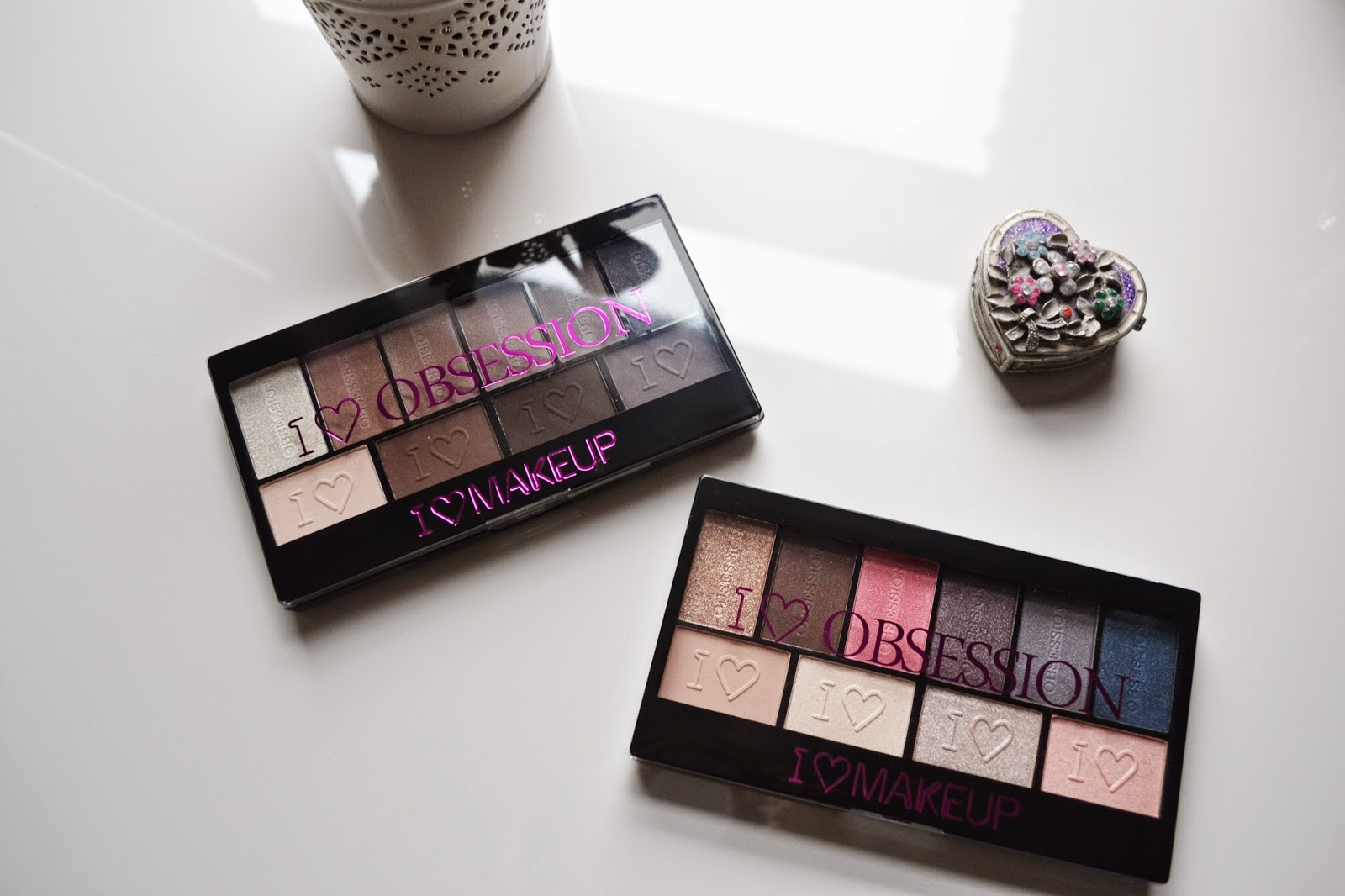 Makeup Revolution I heart Makeup I heart Obsession Palette Review Paris & Born to Die