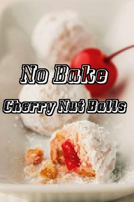 no bake recipe for Christmas Cherry Balls