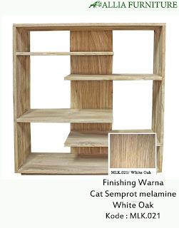 Contoh Furniture Semprot Melamine White Oak