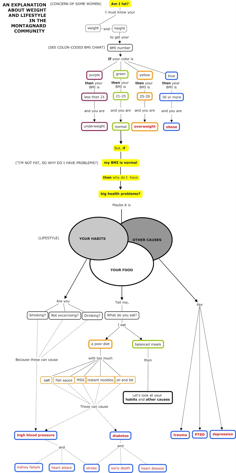 Young Projects: Diet, Food and Health Concept Map (Updated)