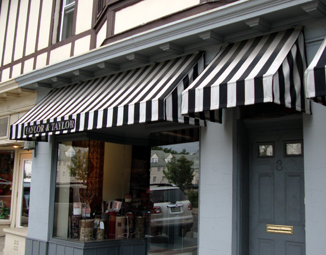 Simple details black and white awnings for Window awnings