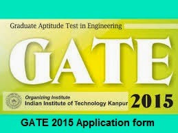 GATE 2015 application form