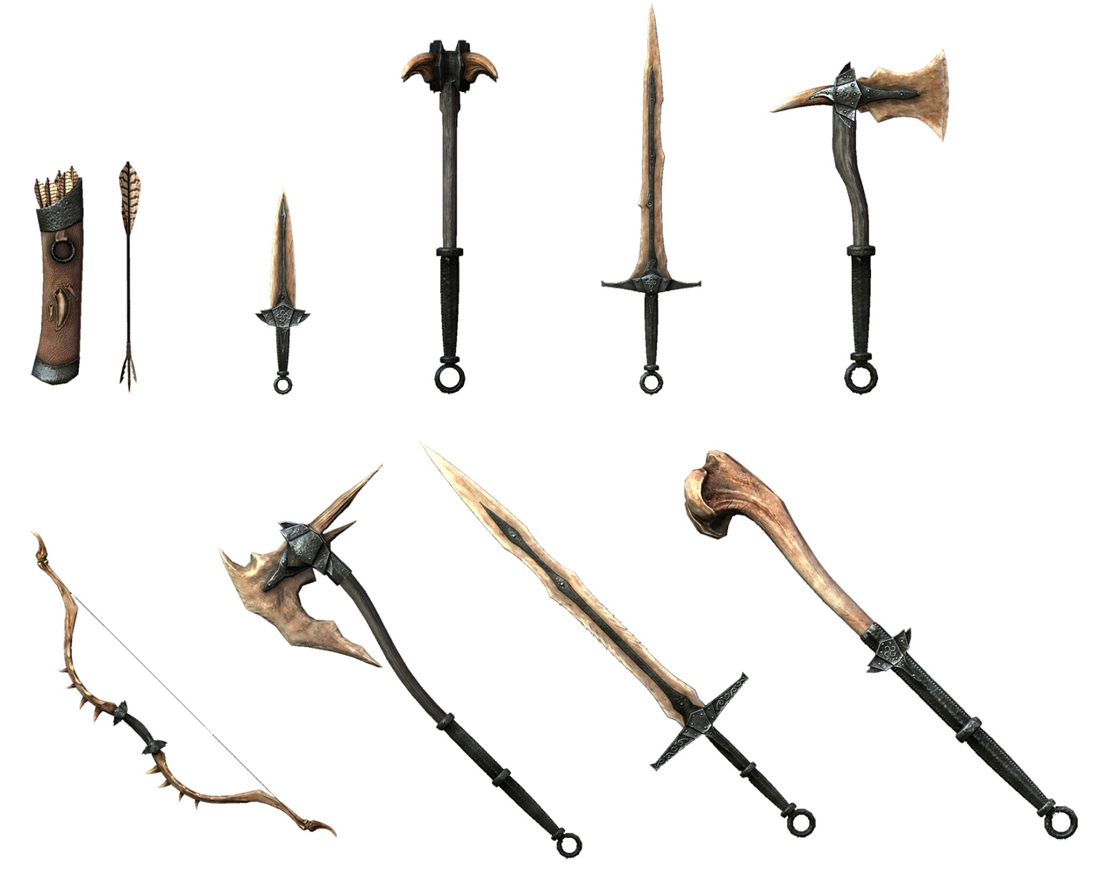 skyrim dragonbone weapons rpg ideas pinterest