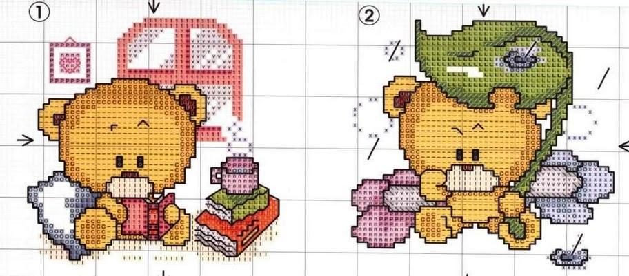 Esquemas osos punto cruz - Imagui