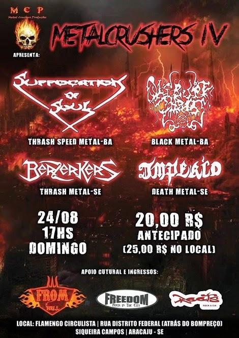 24-08-2014 - METALCRUSHERS IV - Aracaju - SE