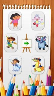 نزيل لعبة البنات تلوين دوراء للأندرويد Dora Coloring