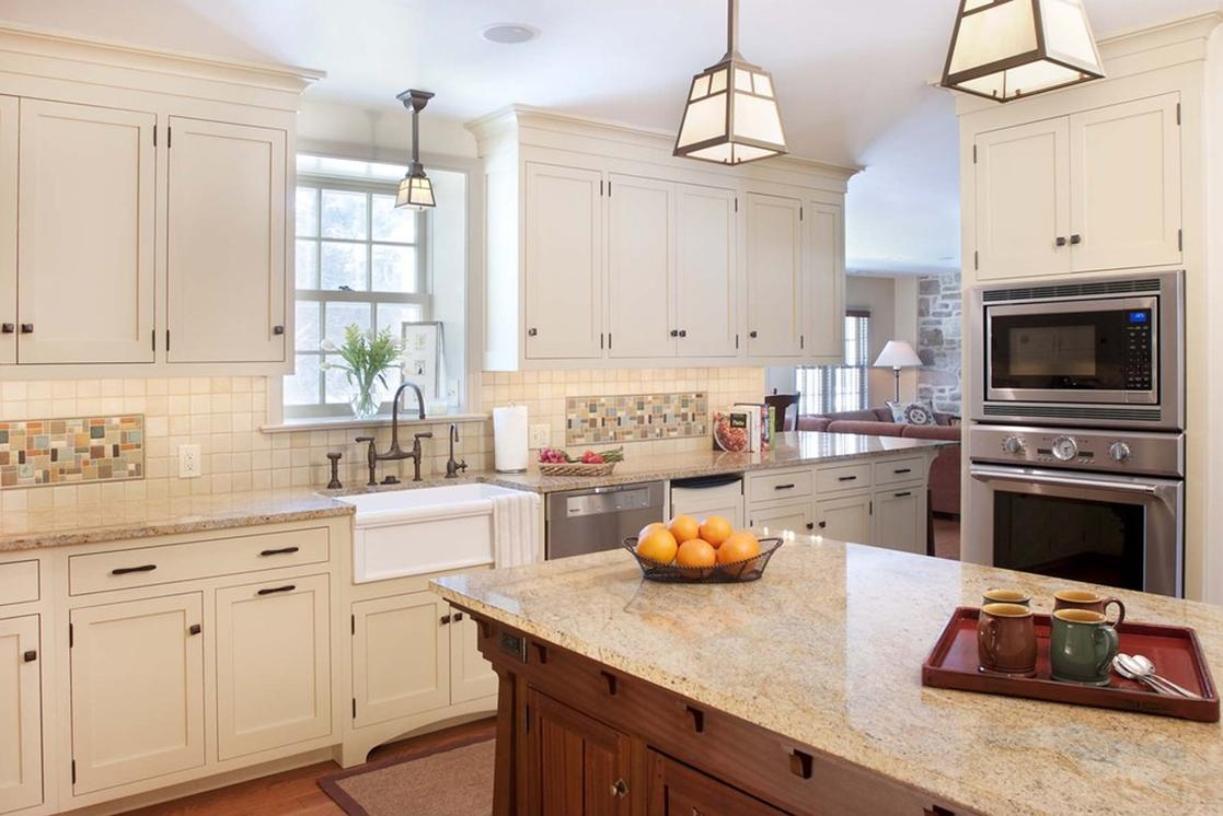 Delorme designs white craftsman style kitchens for Kitchen designs with white cabinets