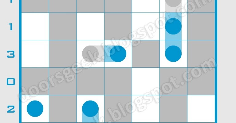Logic dots 7x7 level 16 solution doors geek for 16 door puzzle solution