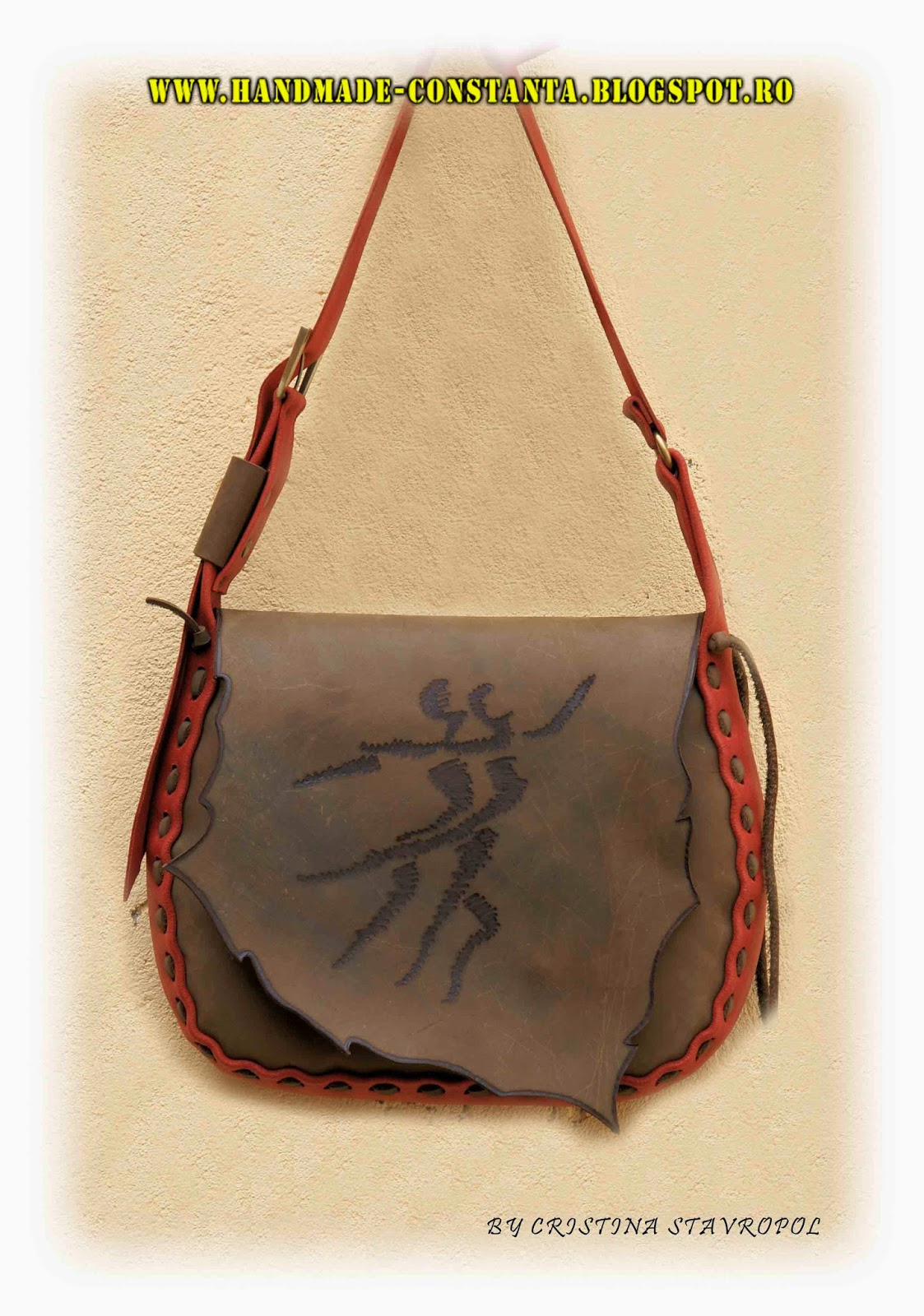 Bag - brown leather.