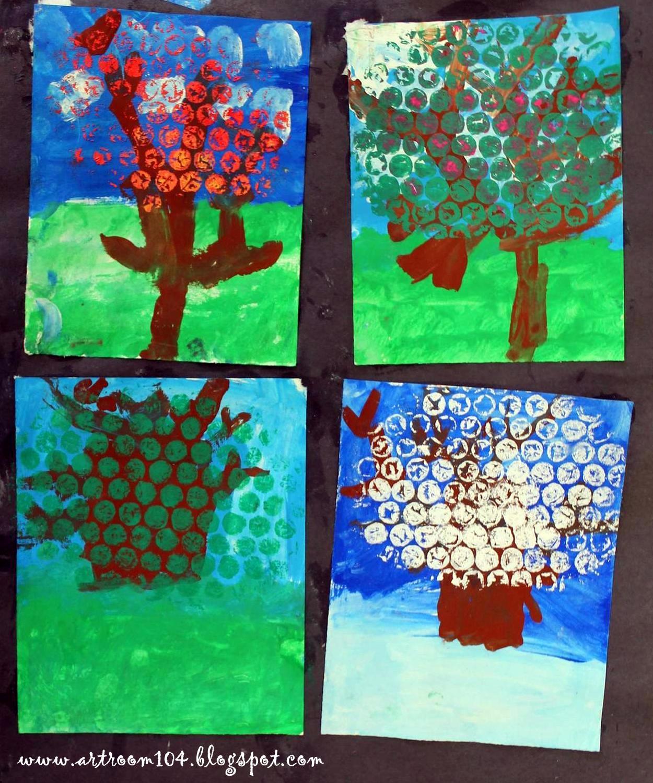 Art Room 104: Kindergarten: Four Seasons Project