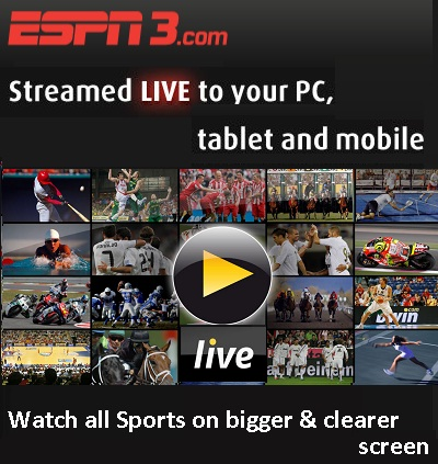 ESPN3.com: Catch Live Sports Events, Schedule, Results &amp; News