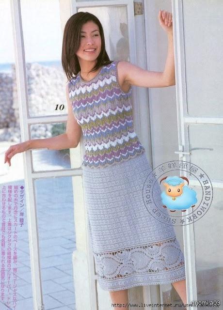 вязание крючком, юбка,