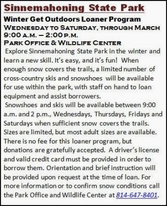 Wed Thru Sat. At Sinnemahoning SP