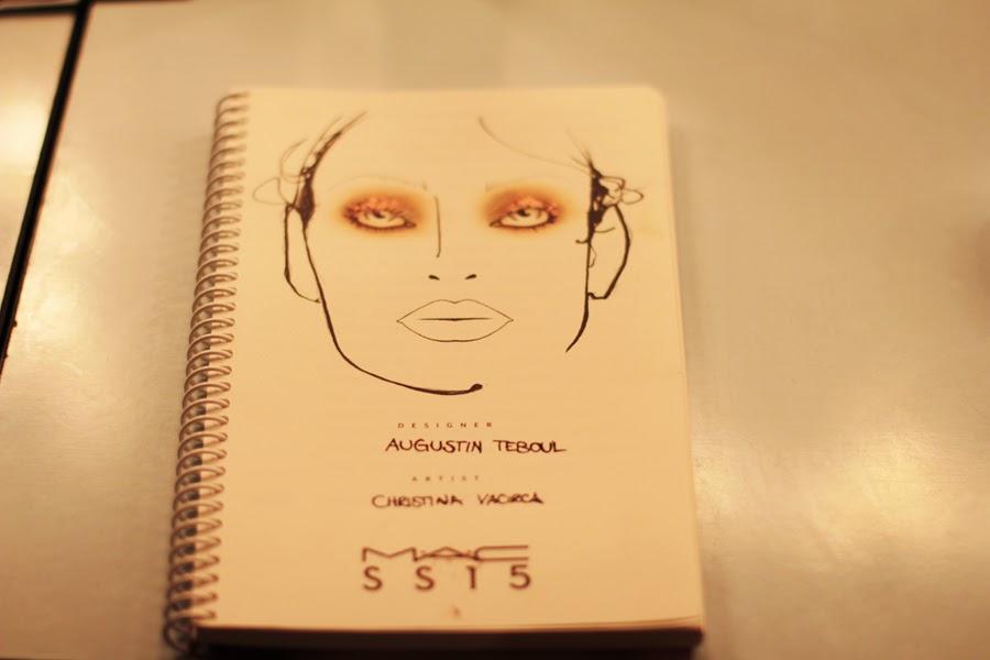 berlin fashion week augustin teboul backstage mac styling make uo model fashion show