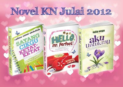 ... buat pertama kalinya kn menerbitkan 3 buah novel dalam sebulan buat