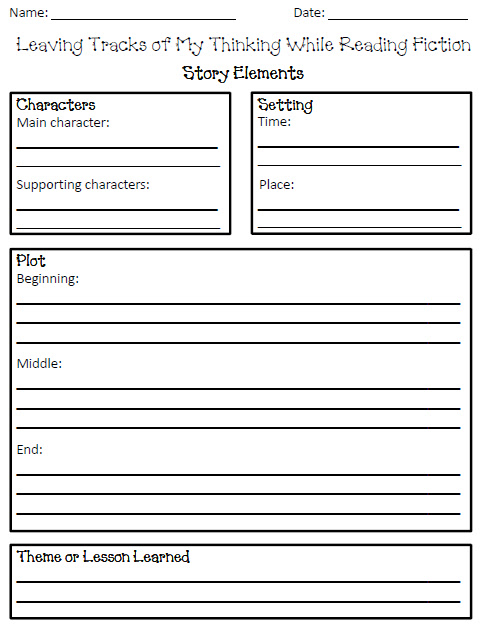 Elements of Short Story Worksheets http://ilove2teach.blogspot.com/2012/03/leaving-tracks-of-my-thinking.html