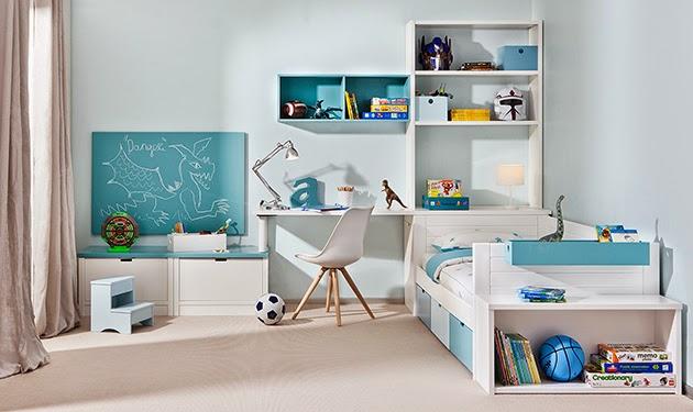 Dormitorios infantiles para ni as ni os de 0 1 2 3 4 y 5 a os - Decoracion habitacion individual ...