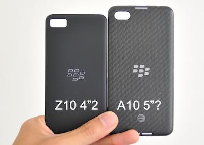 Las noticias del BlackBerry A10 no paran, ahora vemos imágenes de la tapa trasera del A10 comparada con la del Z10 y Q10.