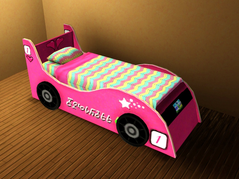 Car toddler beds for boys - My Sims 3 Blog Race Car Bed For Kids Teens By Lhawk07