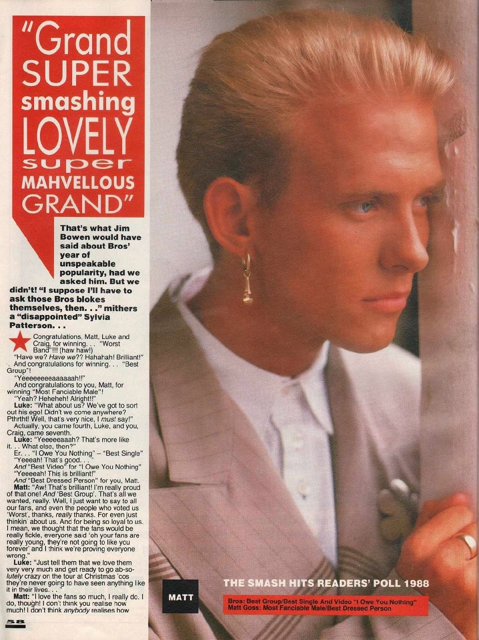 Top of the pops 80s bros interview smash hits 1988 for 1988 hit songs