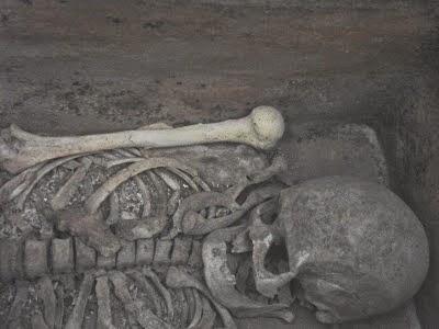 Skeleton from the Crete Minoan period