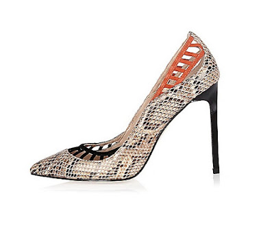 River Island Lattice Print High heeled pumps