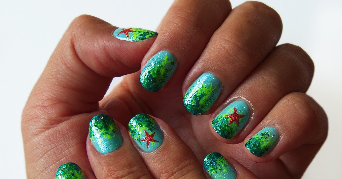 Maryam Maquillage: Aquatic Ombré Nail Art